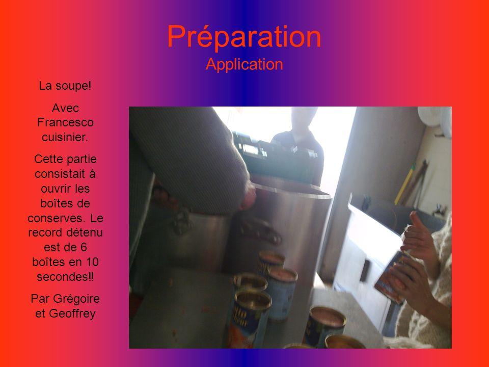 Préparation Application (2) Entreprise de découpe du fromage pour les Sandwichs En lamelles, environ 2 tablettes découpées en 5 minutes.