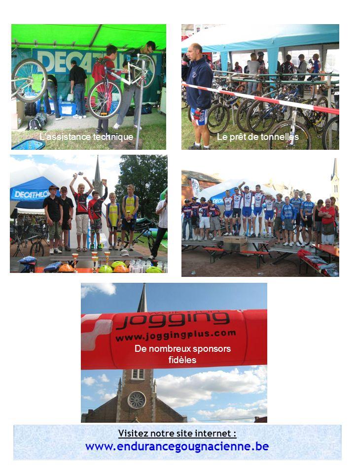 Visitez notre site internet : www.endurancegougnacienne.be Lassistance techniqueLe prêt de tonnelles De nombreux sponsors fidèles