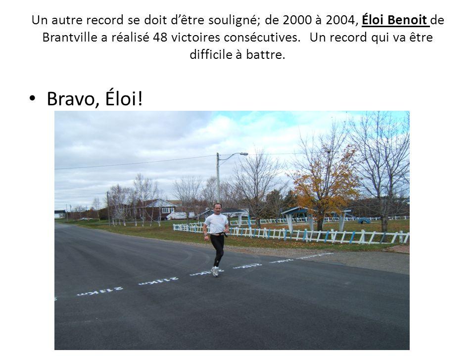 Un autre record se doit dêtre souligné; de 2000 à 2004, Éloi Benoit de Brantville a réalisé 48 victoires consécutives. Un record qui va être difficile
