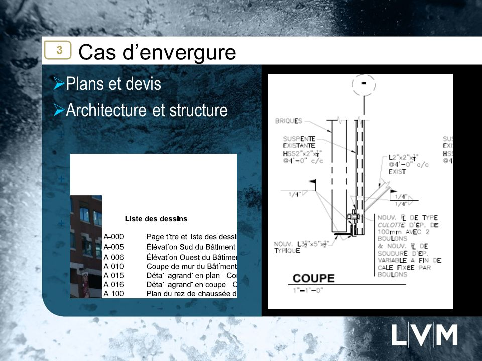 Cas denvergure Plans et devis Architecture et structure Insert photo 3
