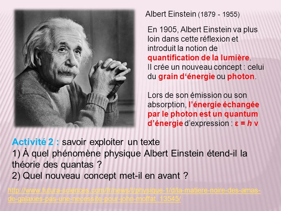 http://www.futura-sciences.com/fr/news/t/physique-1/d/la-matiere-noire-des-amas- de-galaxies-pas-une-necessite-pour-john-moffat_13545/ En 1905, Albert