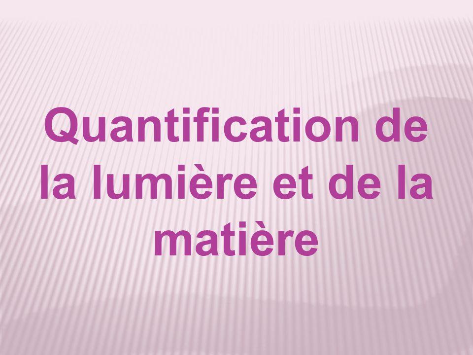 Quantification de la lumière et de la matière
