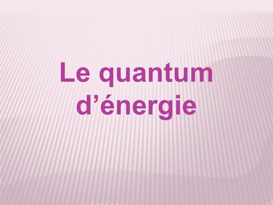 Le quantum dénergie