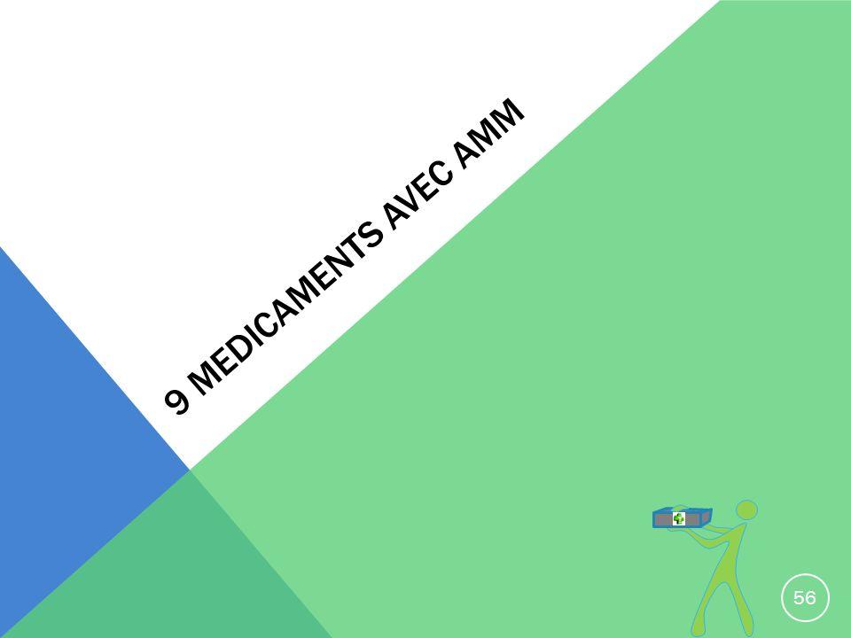 9 MEDICAMENTS AVEC AMM 56