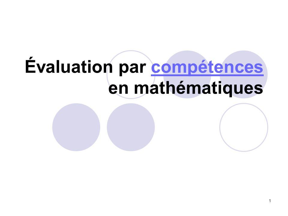 12 La formation et lévaluation sont conçues par compétences, en terme de « micro-compétences » du programme, mais en terme aussi de « macro- compétences ».