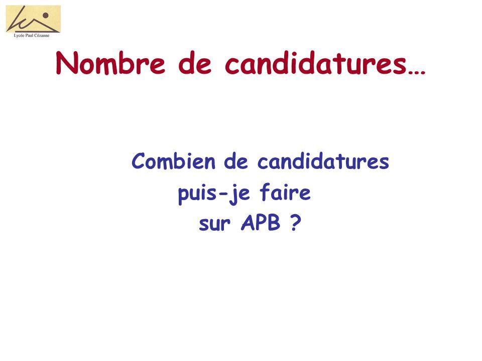 Nombre de candidatures… Combien de candidatures puis-je faire sur APB ?