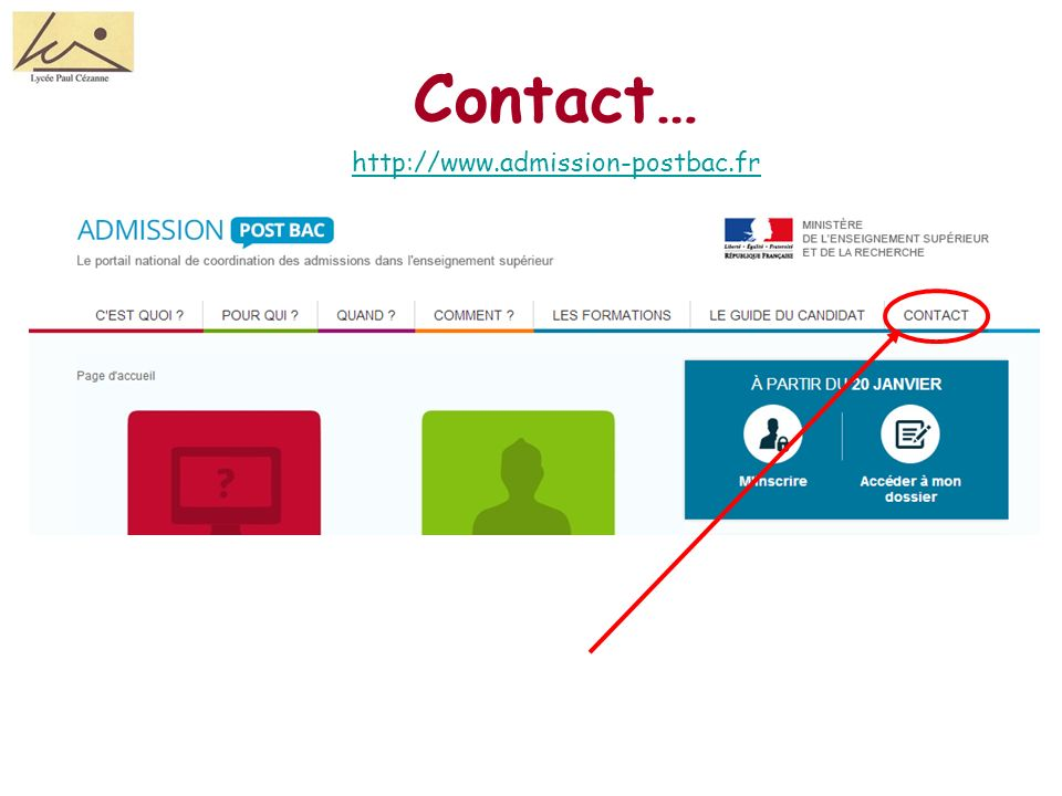 Contact… http://www.admission-postbac.fr