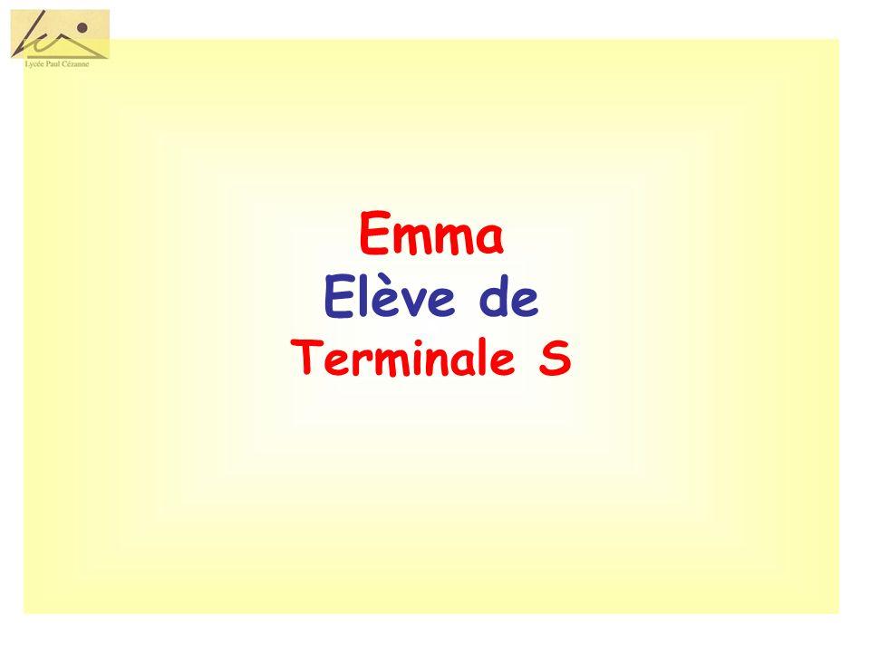 Emma Elève de Terminale S