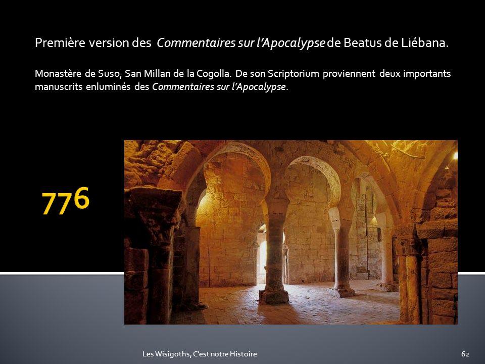 Première version des Commentaires sur lApocalypse de Beatus de Liébana. Monastère de Suso, San Millan de la Cogolla. De son Scriptorium proviennent de