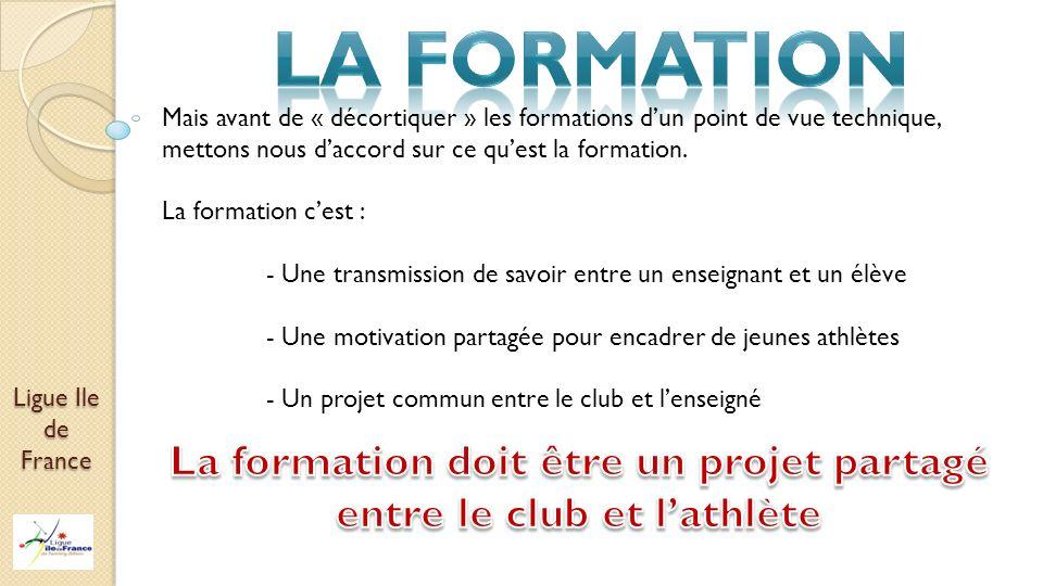 Ligue Ile de France Mais avant de « décortiquer » les formations dun point de vue technique, mettons nous daccord sur ce quest la formation. La format