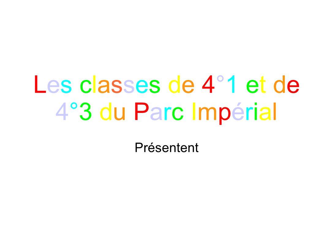 Les classes de 4°1 et de 4°3 du Parc Impérial Présentent