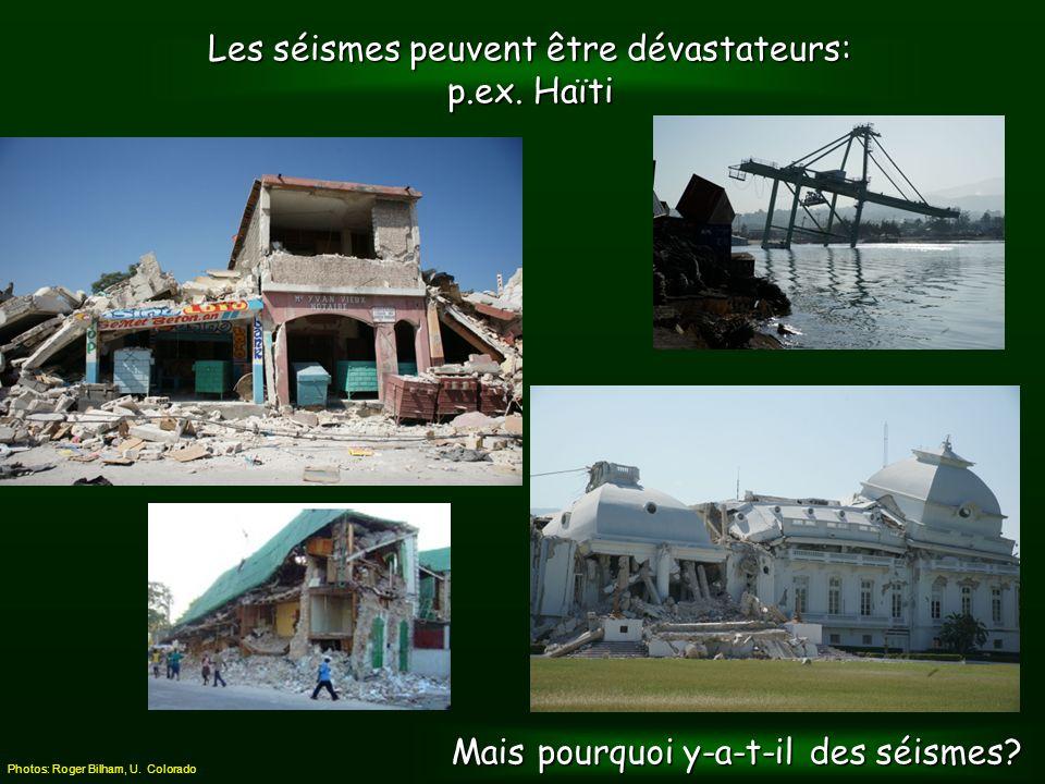 Dans certaines régions, les séismes contribuent à façonner le paysage !!.