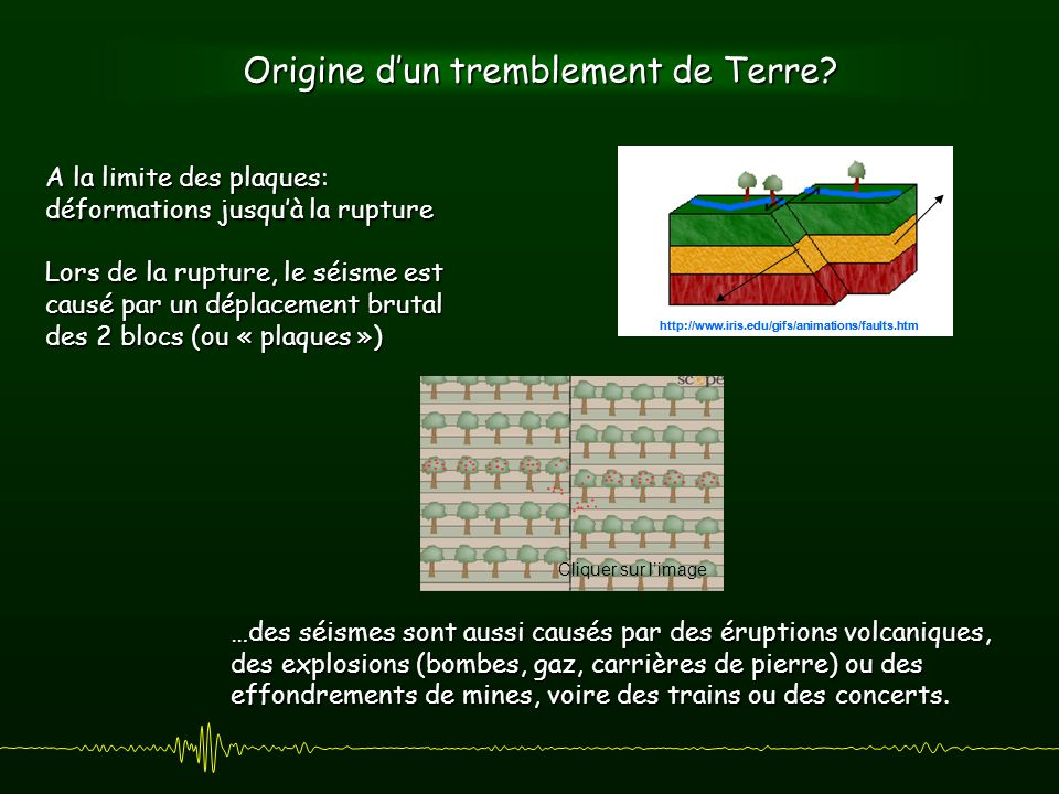 Origine dun tremblement de Terre.