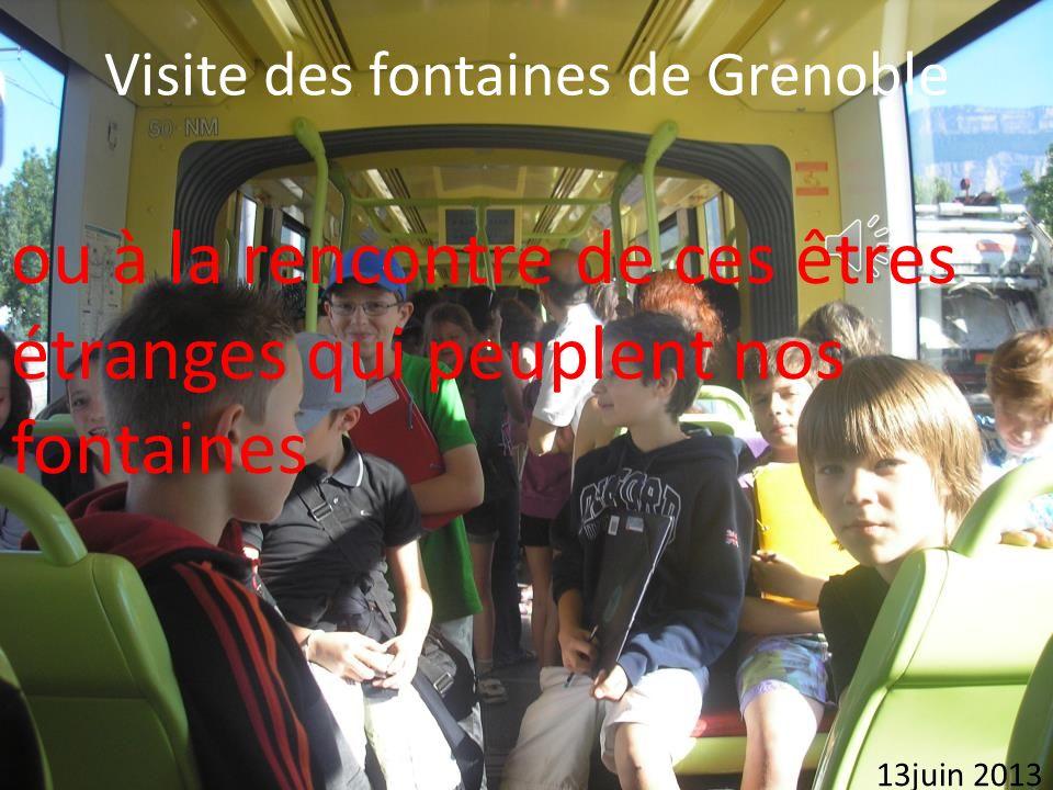 Visite des fontaines de Grenoble ou à la rencontre de ces êtres étranges qui peuplent nos fontaines 13juin 2013
