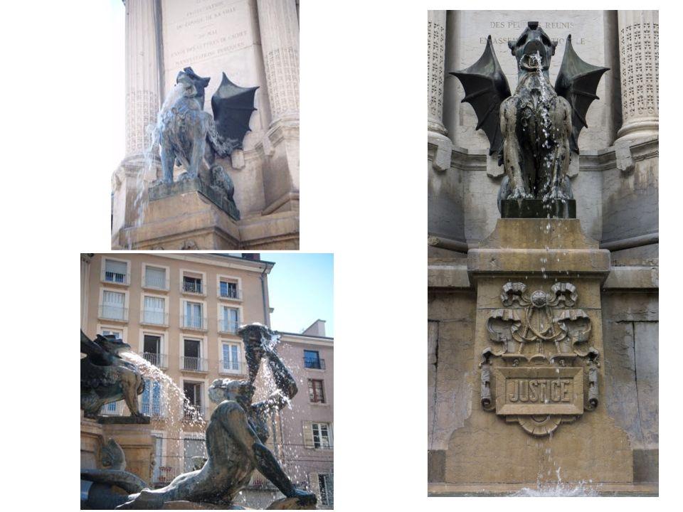 La fontaine des trois ordres Elle a été construite, pour commémorer le premier centenaire de la révolution française et le rôle joué par Grenoble avec