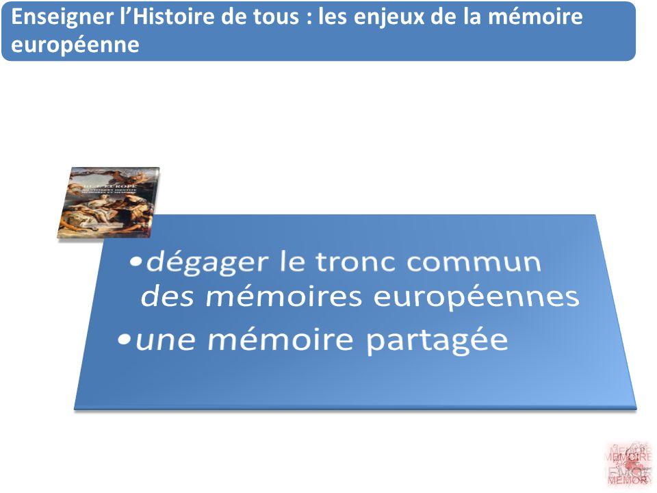 Enseigner lHistoire de tous : les enjeux de la mémoire européenne