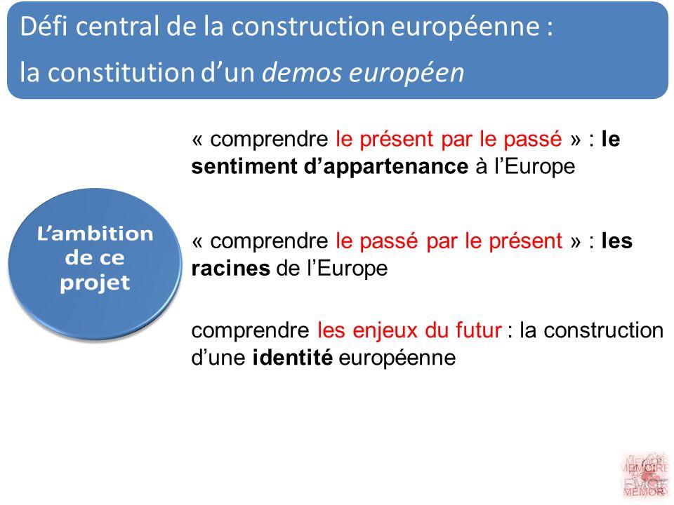 Défi central de la construction européenne : la constitution dun demos européen comprendre les enjeux du futur : la construction dune identité europée