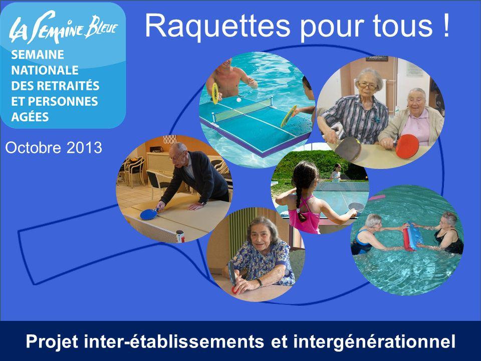 Raquettes pour tous ! Octobre 2013 Projet inter-établissements et intergénérationnel