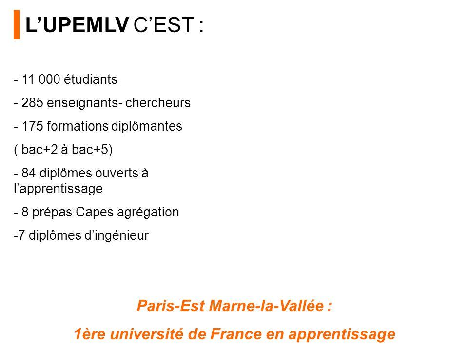 - 11 000 étudiants - 285 enseignants- chercheurs - 175 formations diplômantes ( bac+2 à bac+5) - 84 diplômes ouverts à lapprentissage - 8 prépas Capes