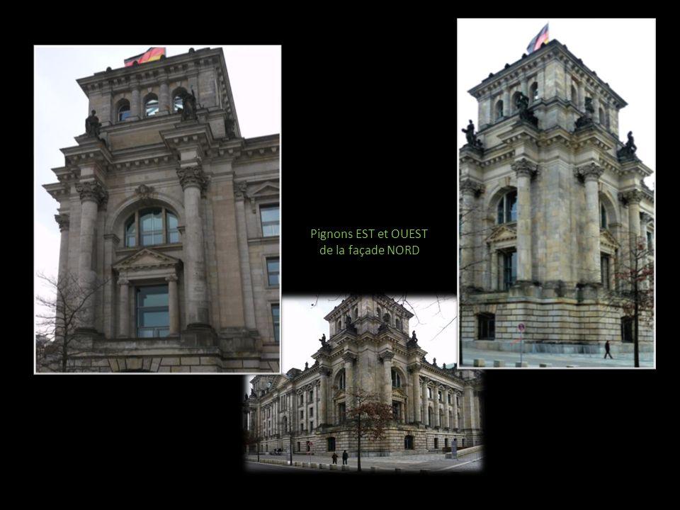 Pignons EST et OUEST de la façade NORD