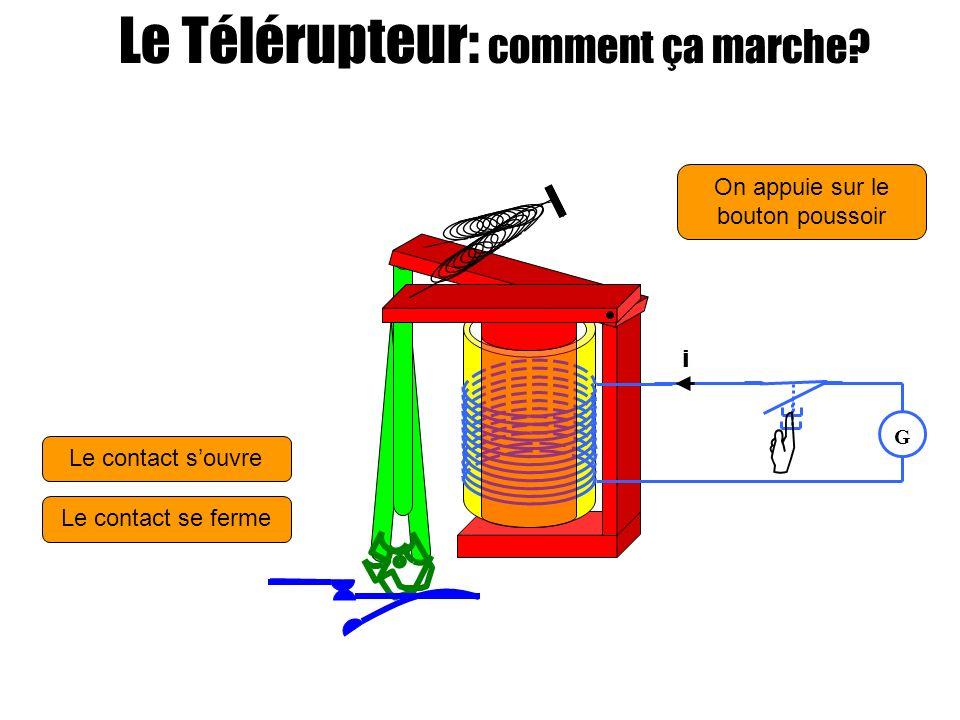 On appuie sur le bouton poussoir Le contact souvre Attente G i Attente Le contact se ferme Attente Le Télérupteur: comment ça marche?