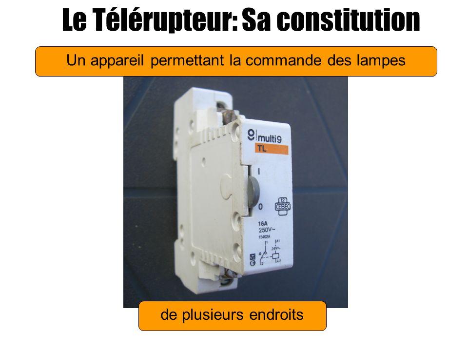 Trois éléments schématisés Le Télérupteur: Sa constitution une bobine une mémoire mécanique Un contact