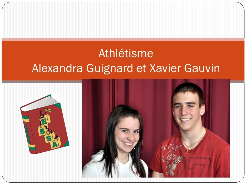 Athlétisme Alexandra Guignard et Xavier Gauvin