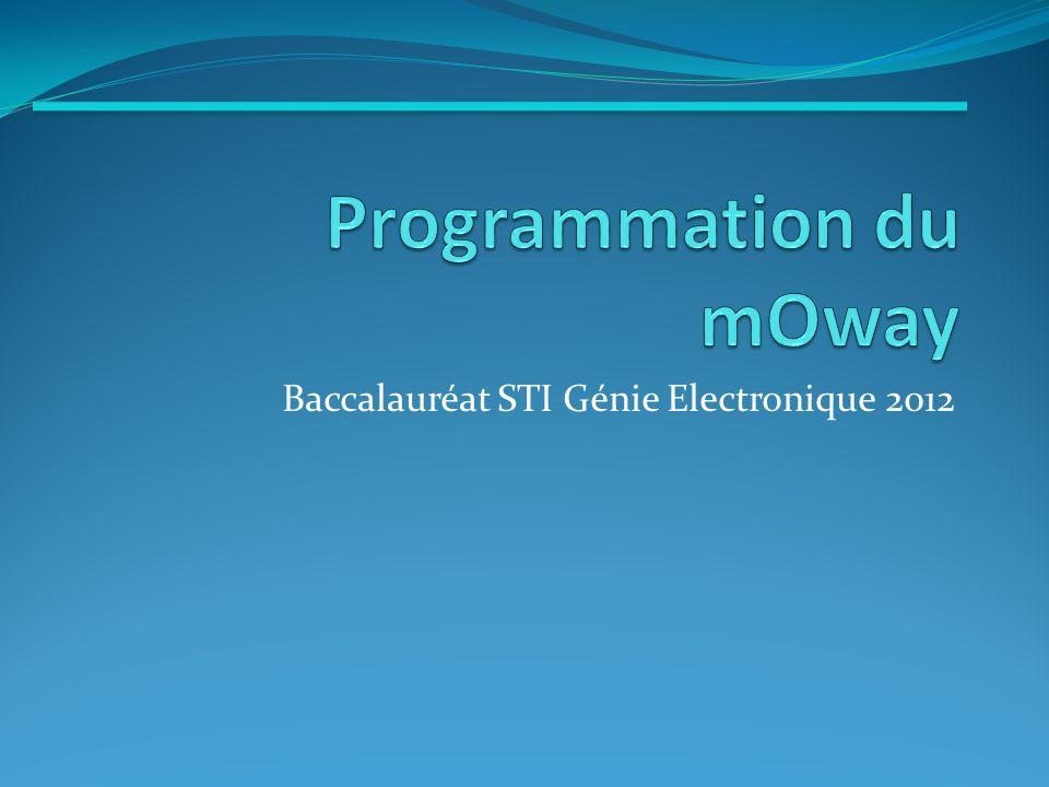 1.Démarche 2. Algo Studio 3. MPLAB 4. Moway GUI 5.