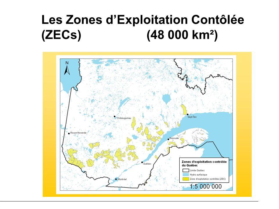 Les Zones dExploitation Contôlée (ZECs) (48 000 km²)