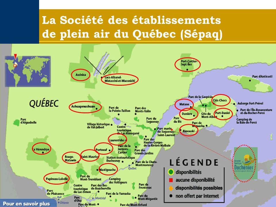 La Société des établissements de plein air du Québec (Sépaq)
