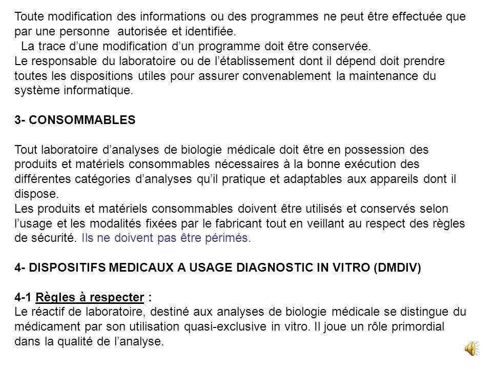 4- TRANSMISSION DES RESULTATS 4-2- Les résultats danalyse sont dune façon générale remis au patient.