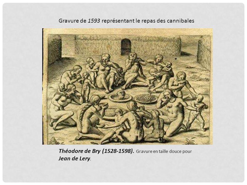 Gravure du XVIème siècle représentant les indiens Tupis EN 1550, la controverse de Valladolid avait amené à se poser la question de lhumanité de ces p