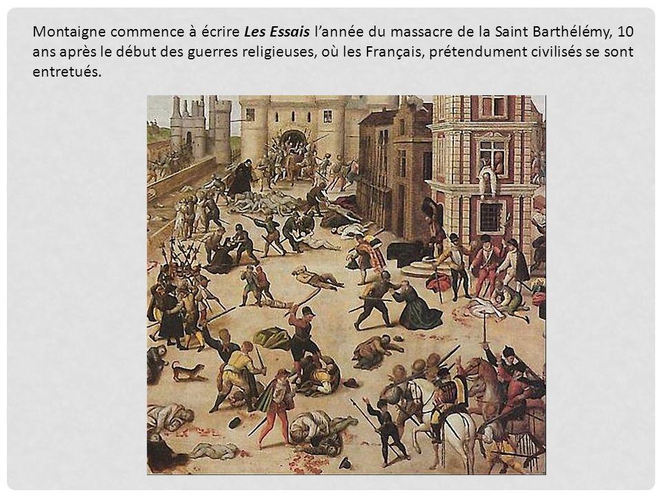 Pour aller plus loin dans votre réflexion, une citation de Montaigne, tirée du même chapitre « Chacun appelle barbarie ce qui nest pas de son usage… »
