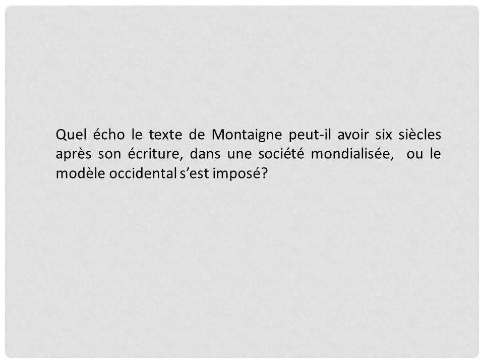 Montaigne commence à écrire Les Essais lannée du massacre de la Saint Barthélémy, 10 ans après le début des guerres religieuses, où les Français, prét