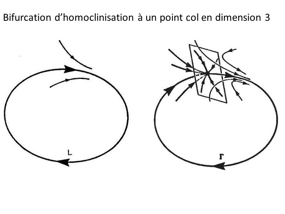 Bifurcation dhomoclinisation à un point col en dimension 3