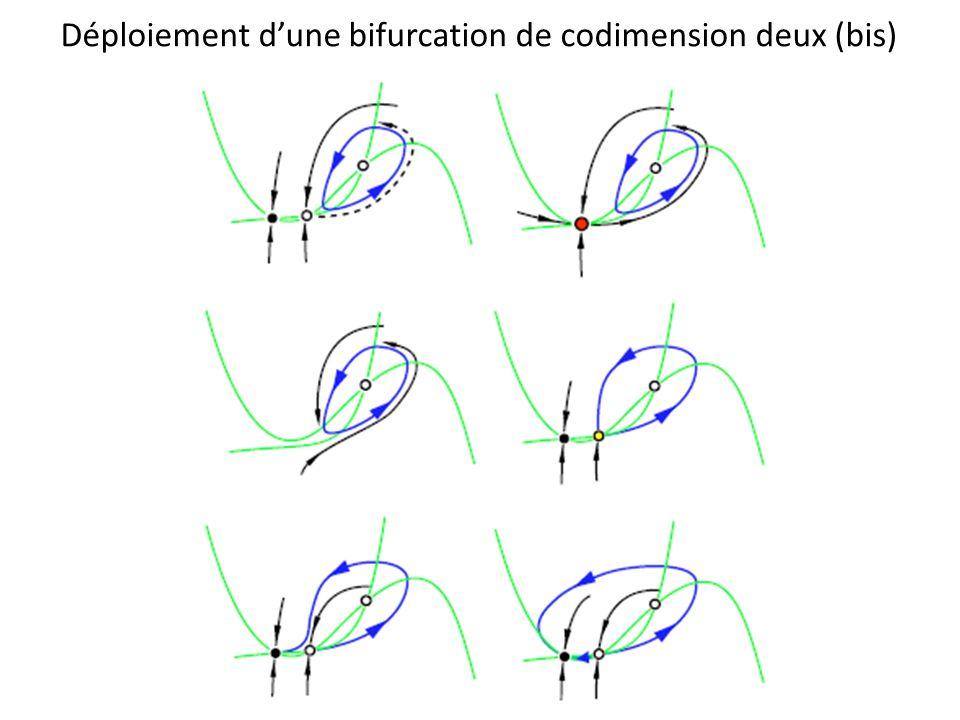 Déploiement dune bifurcation de codimension deux (bis)
