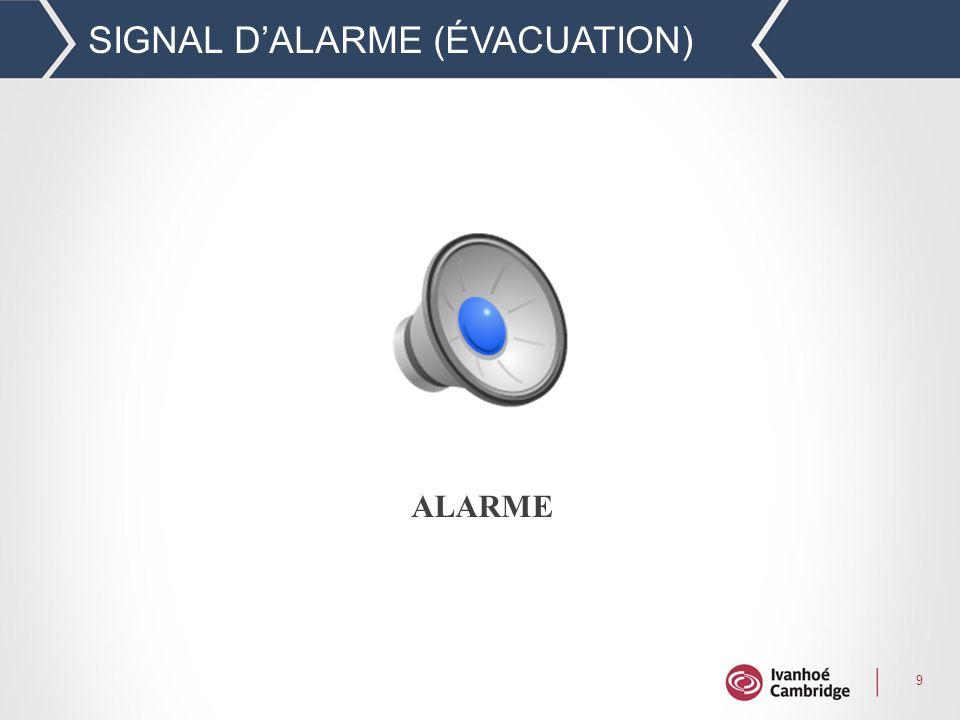 9 SIGNAL DALARME (ÉVACUATION) ALARME
