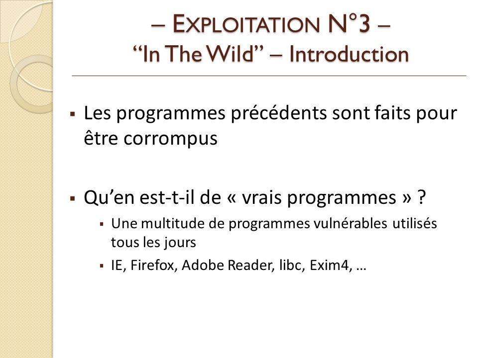 Les programmes précédents sont faits pour être corrompus Quen est-t-il de « vrais programmes » .