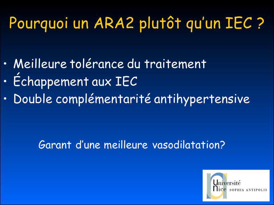 Pourquoi un ARA2 plutôt quun IEC .