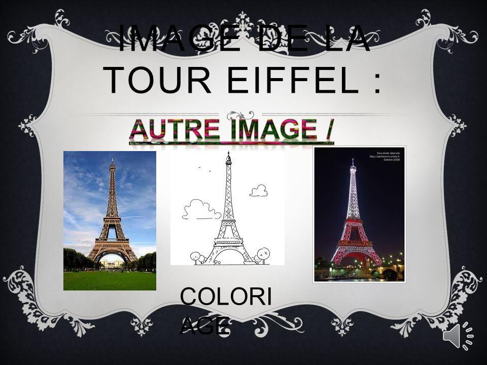IMAGE DE LA TOUR EIFFEL : La tour pendant l Exposition universelle de 1900.