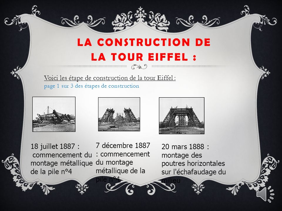 LA TOUR EIFFEL : IMFORMATION GENERAL : Info géneral : La tour Eiffel est une tour de fer puddlé de 324 mètres de hauteur 1 située à Paris, à l extrémité nord-ouest du parc du Champ-de-Mars, en bordure de la Seine.