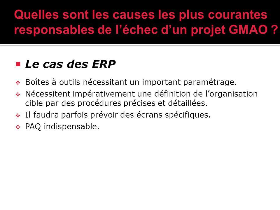 Le cas des ERP Boîtes à outils nécessitant un important paramétrage.