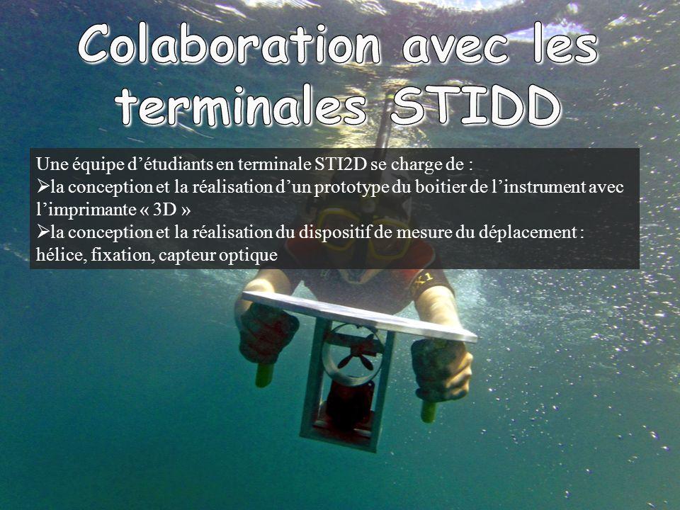 Une équipe détudiants en terminale STI2D se charge de : la conception et la réalisation dun prototype du boitier de linstrument avec limprimante « 3D » la conception et la réalisation du dispositif de mesure du déplacement : hélice, fixation, capteur optique