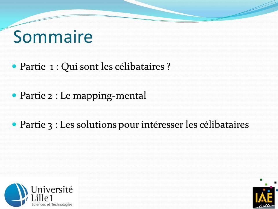 Sommaire Partie 1 : Qui sont les célibataires ? Partie 2 : Le mapping-mental Partie 3 : Les solutions pour intéresser les célibataires