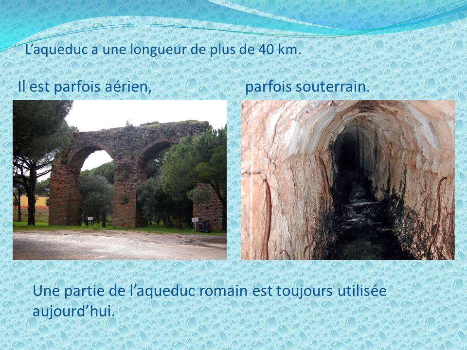 Pour alimenter la ville romaine de Forum Julii, les romains construisirent au premier siècle après Jésus- Christ un aqueduc qui reliait la ville aux s