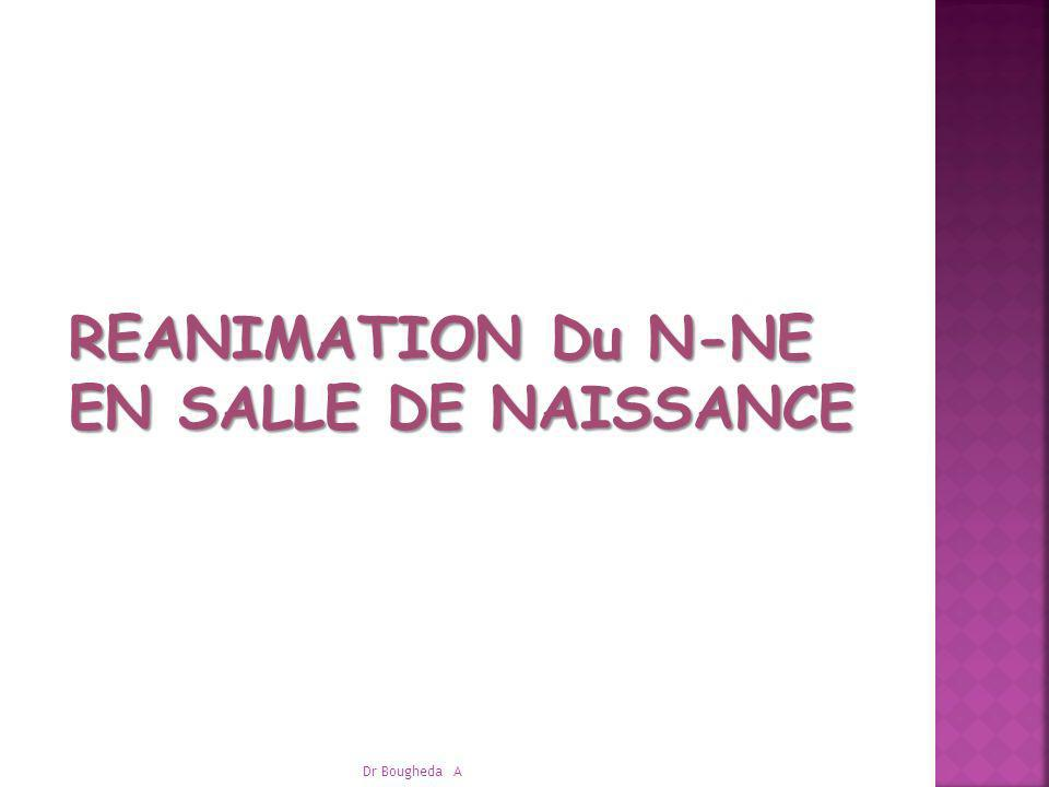 REANIMATION Du N-NE REANIMATION Du N-NE EN SALLE DE NAISSANCE EN SALLE DE NAISSANCE Dr Bougheda A