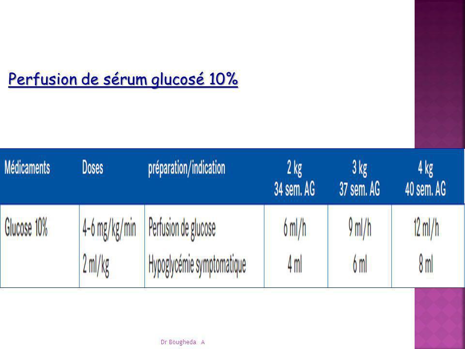 Dr Bougheda A Perfusion de sérum glucosé 10%