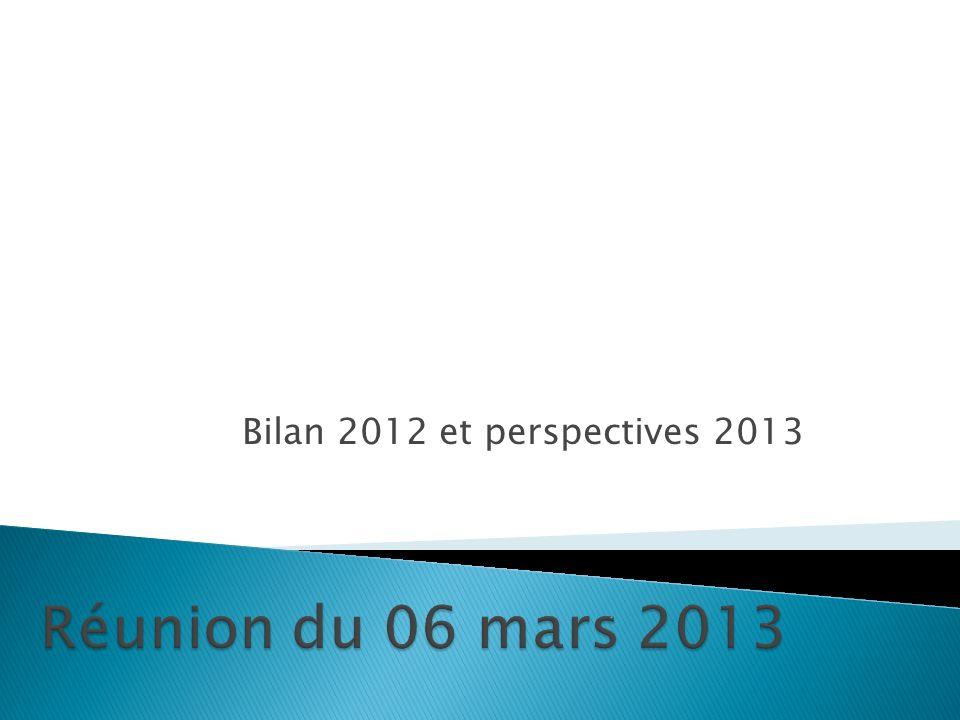 Bilan 2012 et perspectives 2013