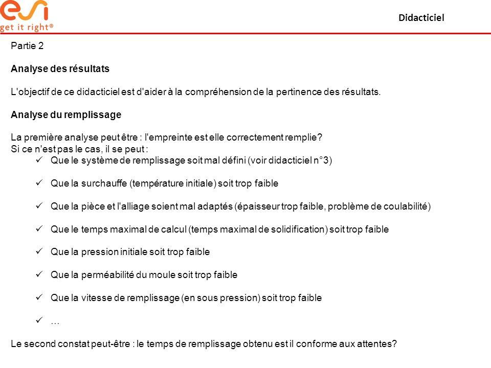 Didacticiel Partie 2 Analyse des résultats L'objectif de ce didacticiel est d'aider à la compréhension de la pertinence des résultats. Analyse du remp