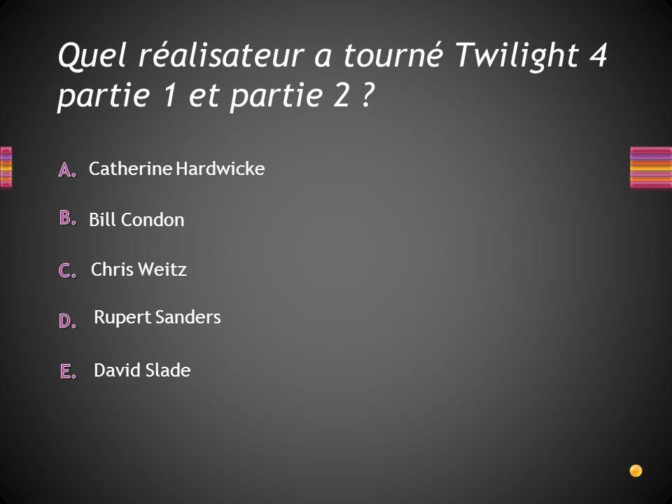 VRAI ou FAUX Le tournage de Twilight sest déroulé à Forks.